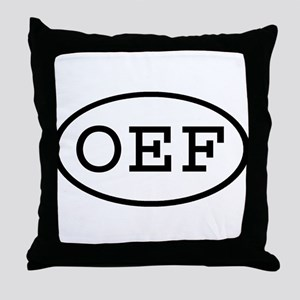 OEF Oval Throw Pillow
