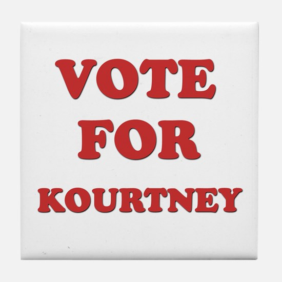 Vote for KOURTNEY Tile Coaster