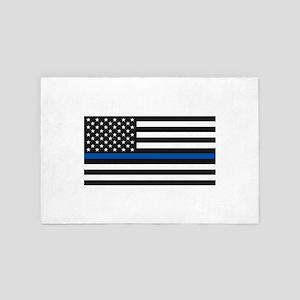 Thin Blue Line - USA United States Ame 4' x 6' Rug