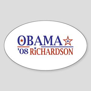 Obama Richardson '08 Oval Sticker