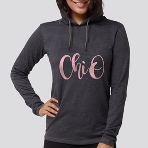 Chi Omega ChiO Womens Hooded Shirt