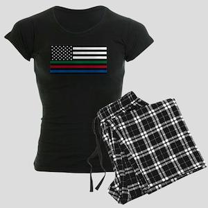 Thin Blue Line Decal - USA Flag - Red, Blu Pajamas
