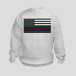 Thin Blue Line Decal - USA Flag - Red, Sweatshirt