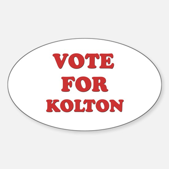 Vote for KOLTON Oval Decal