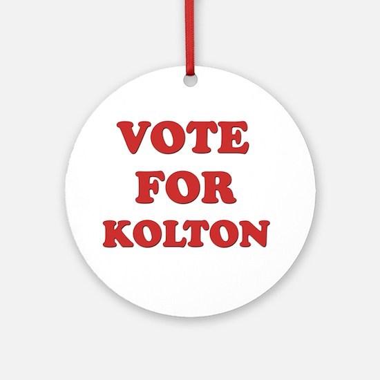 Vote for KOLTON Ornament (Round)