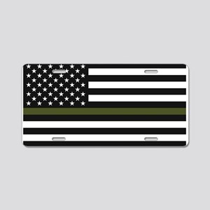 Thin Blue Line Decal - USA Aluminum License Plate