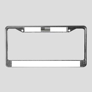 Thin Blue Line Decal - USA Fla License Plate Frame