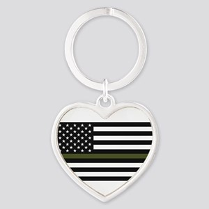 Thin Blue Line Decal - USA Flag - Red, B Keychains
