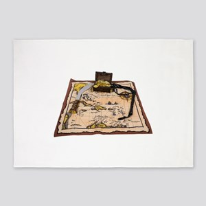 PirateMapTreasure050110 5'x7'Area Rug