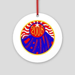 OBAMA 2008 RWB Ornament (Round)