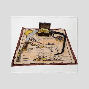 PirateMapTreasure050110 Throw Blanket