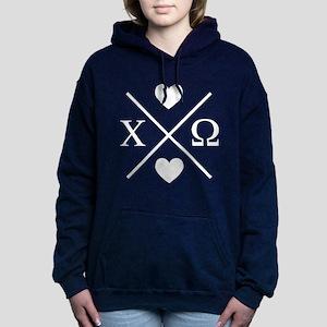 Chi Omega Cross Women's Hooded Sweatshirt