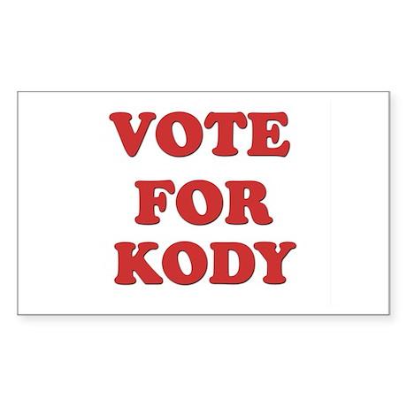 Vote for KODY Rectangle Sticker