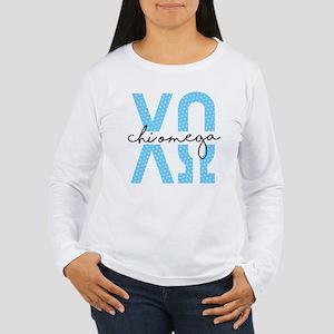 Chi Omega Polka Dots Women's Long Sleeve T-Shirt