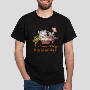 I Love My Highlander Designs Dark T-Shirt