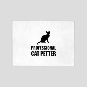 Professional Cat Petter 5'x7'Area Rug
