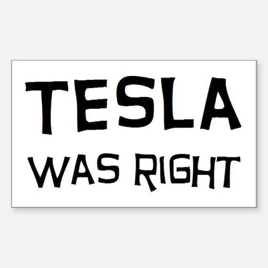 tesla2 Sticker (Rectangle)