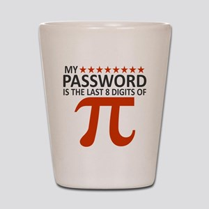 My Password Is The Last 8 Digits of Pi Shot Glass