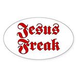Jesus Freak Christian Oval Sticker