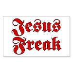 Jesus Freak Christian Rectangle Sticker