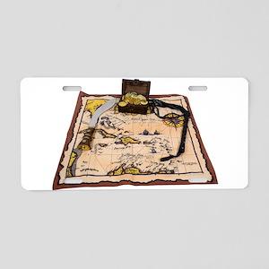 PirateMapTreasure050110 Aluminum License Plate