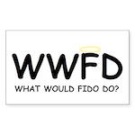 WWFD Rectangle Sticker 10 pk)