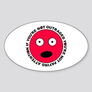Not Paying Attention Oval Sticker