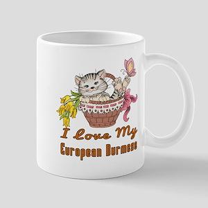 I Love My European Burmese Designs Mug