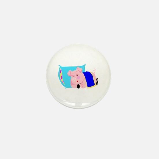 Sleeping Pig Mini Button