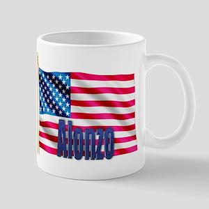 Alonzo Personalized USA Flag Mug