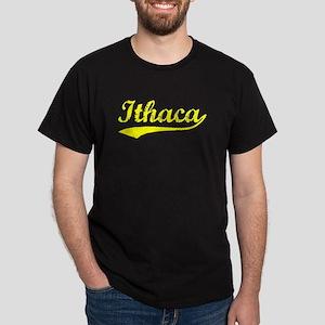 Vintage Ithaca (Gold) Dark T-Shirt