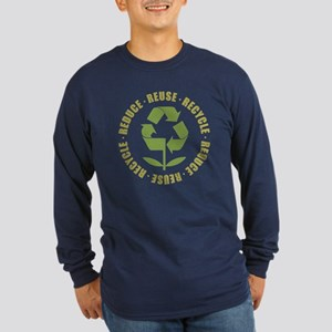Reduce Reuse Recycle Long Sleeve Dark T-Shirt