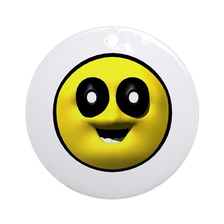 Google Eyed Face Ornament (Round)
