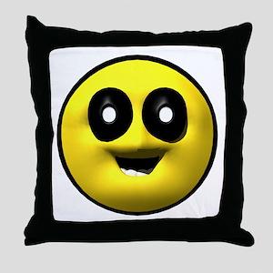 Google Eyed Face Throw Pillow