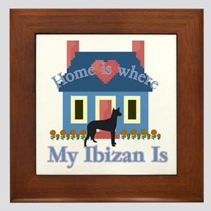 Ibizan Home Is Framed Tile