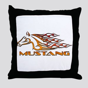 Mustang Tribal Throw Pillow