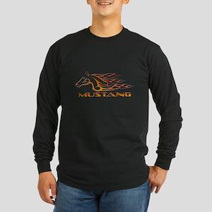 Mustang Tribal Long Sleeve Dark T-Shirt