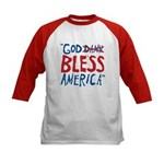 God Bless America Kids Baseball Jersey
