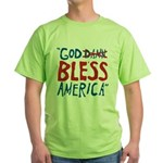 God Bless America Green T-Shirt