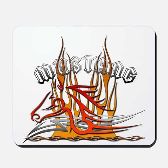 Mustang Tribal with Flames Mousepad