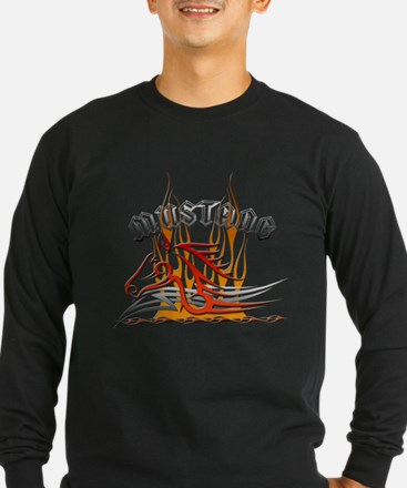 Mustang Tribal with Flames T