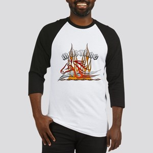 Mustang Tribal with Flames Baseball Jersey