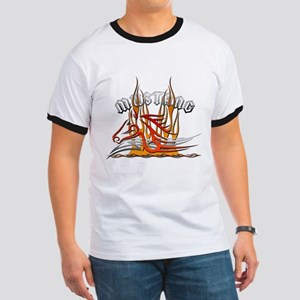 Mustang Tribal with Flames Ringer T