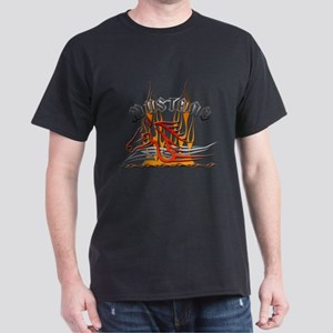 Mustang Tribal with Flames Dark T-Shirt