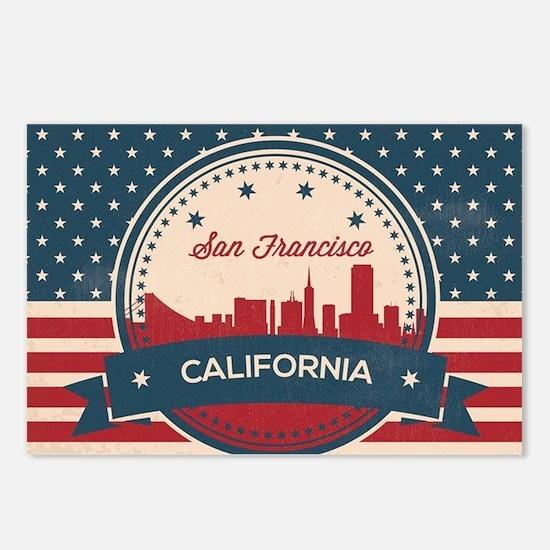 Cute San francisco skyline Postcards (Package of 8)