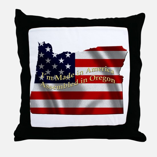 Unique Made in oregon Throw Pillow