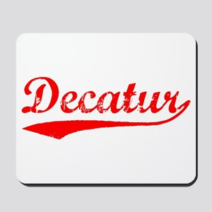 Vintage Decatur (Red) Mousepad