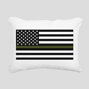 Thin Blue Line Decal - U Rectangular Canvas Pillow