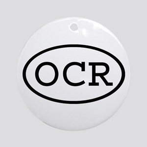 OCR Oval Ornament (Round)