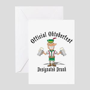 Oktoberfest Designated Drunk Greeting Card